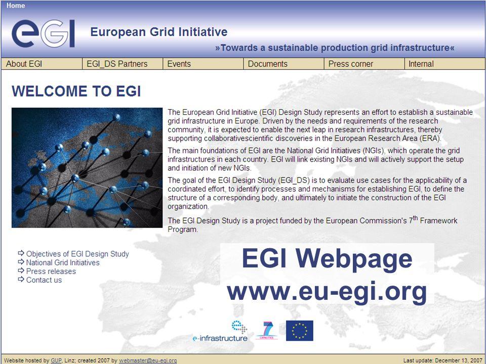 EGI Webpage www.eu-egi.org