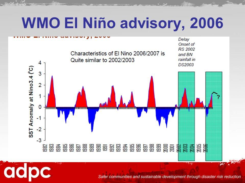WMO El Niño advisory, 2006