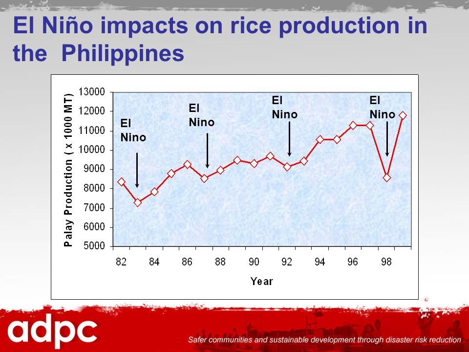 El Niño impacts on rice production in the Philippines El Nino