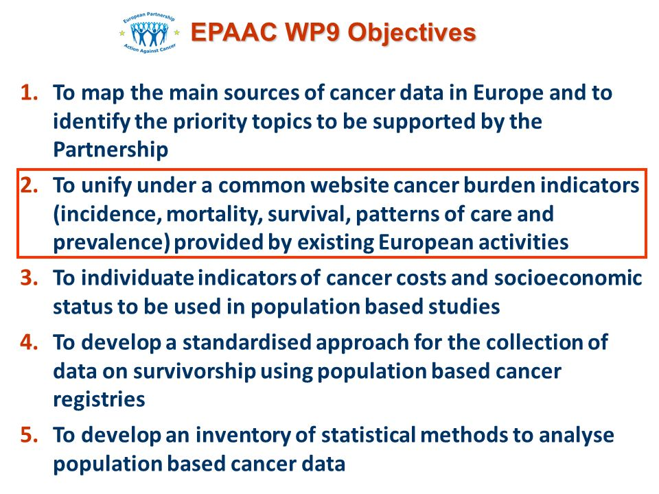 EPAAC WP9 Objectives 1.