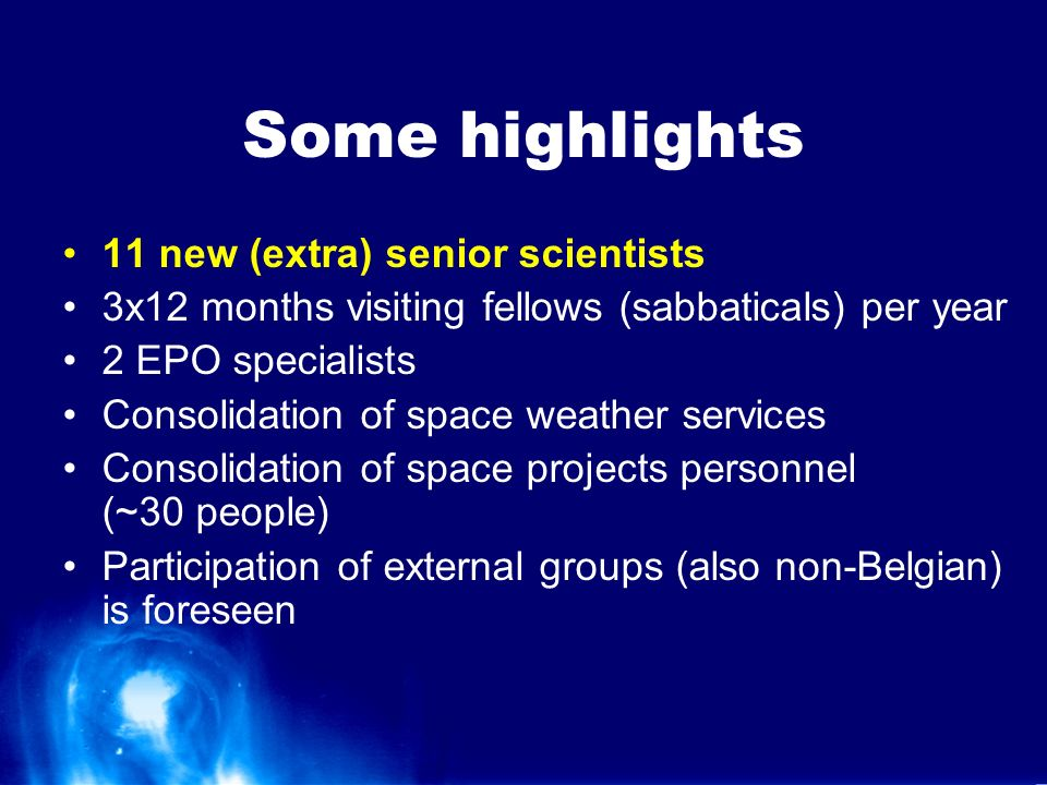 Goals To become the European central node for space weather activities To build up a critical mass for large projects (EU funding) or strategically important activities (e.g.