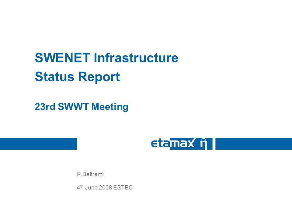 4 th June 200823 rd SWWT SWENET Status Report 2 Contents Some user statistics Latest developments in SWENET –Recent updates to the Internet Portal –New Service Development Activities (SDAs) Current tasks Future Developments