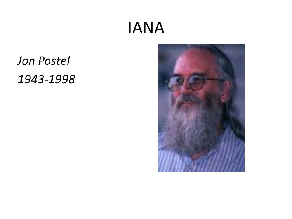 IANA Jon Postel 1943-1998