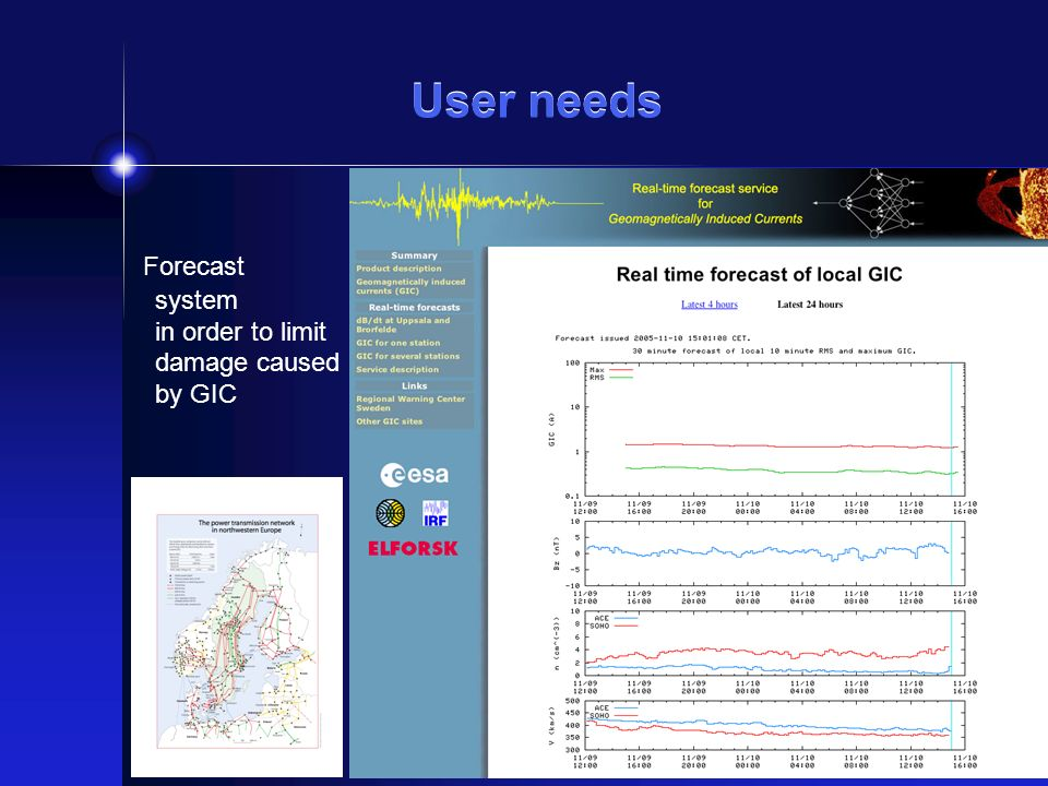 User satisfaction - financial benefits The aim of the cost-benefit analysis is to determine the benefit of carrying-out various measures in order to limit damage caused by GIC.