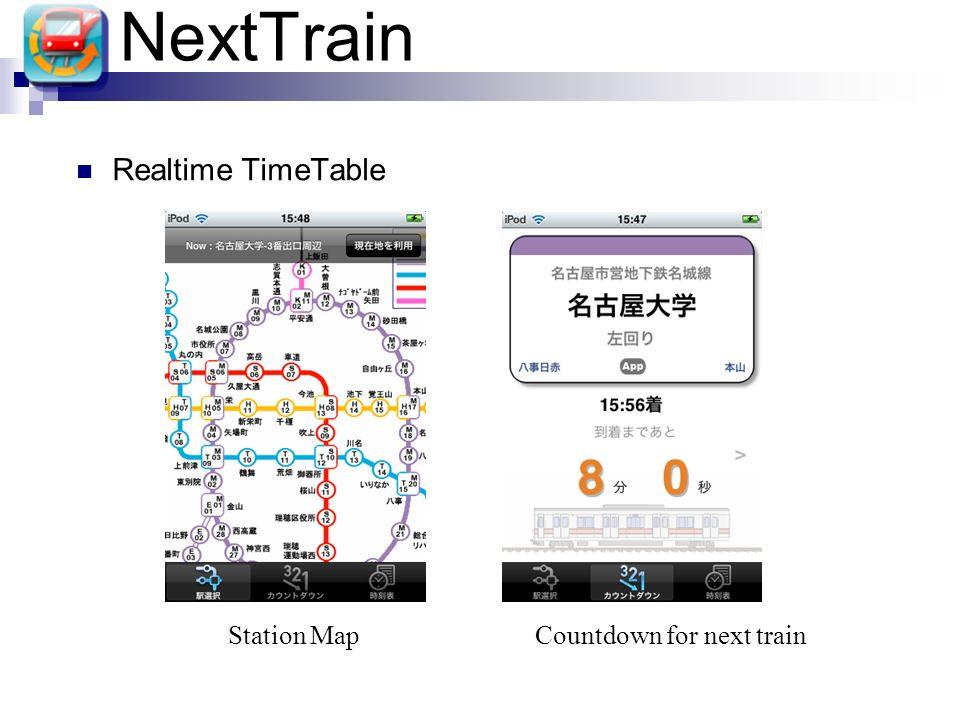 NextTrain Realtime TimeTable Station MapCountdown for next train