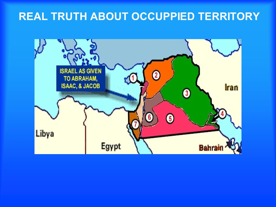 REAL TRUTH ABOUT OCCUPPIED TERRITORY