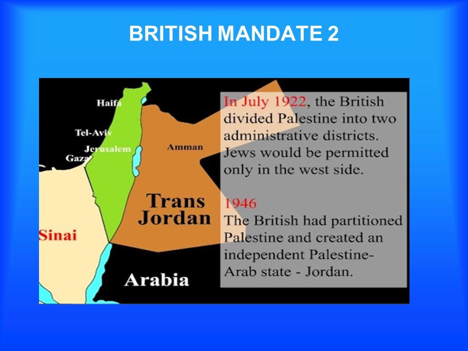 BRITISH MANDATE 2