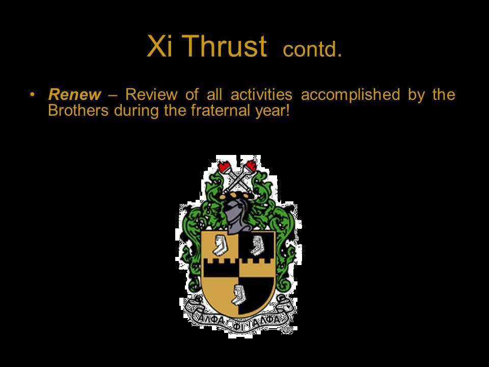 Xi Thrust contd.