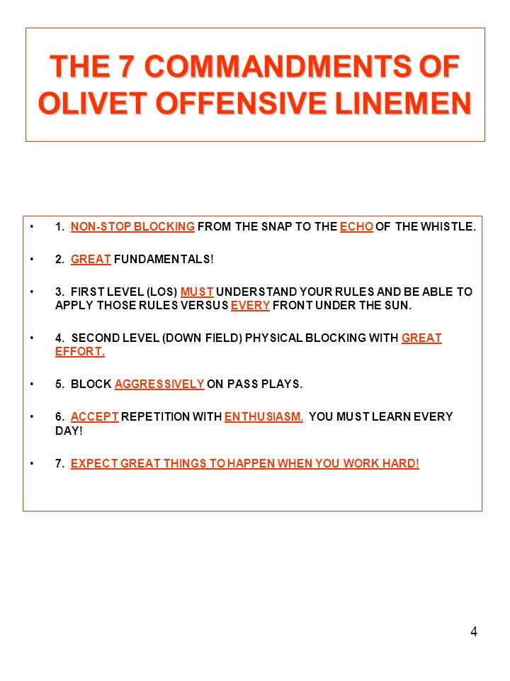 15 DOWN BLOCK DRILL 1.OBJECTIVES: A.
