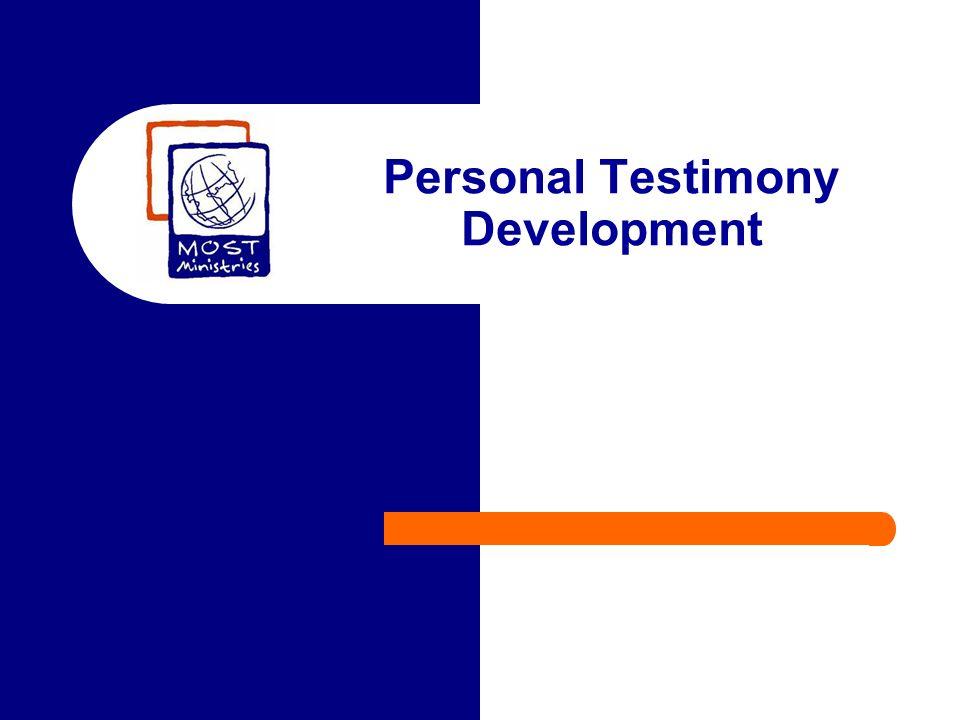 Personal Testimony Development
