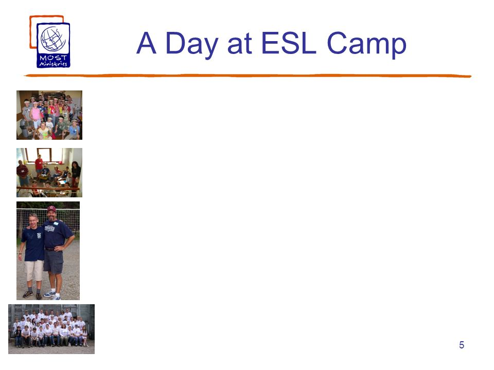 5 A Day at ESL Camp