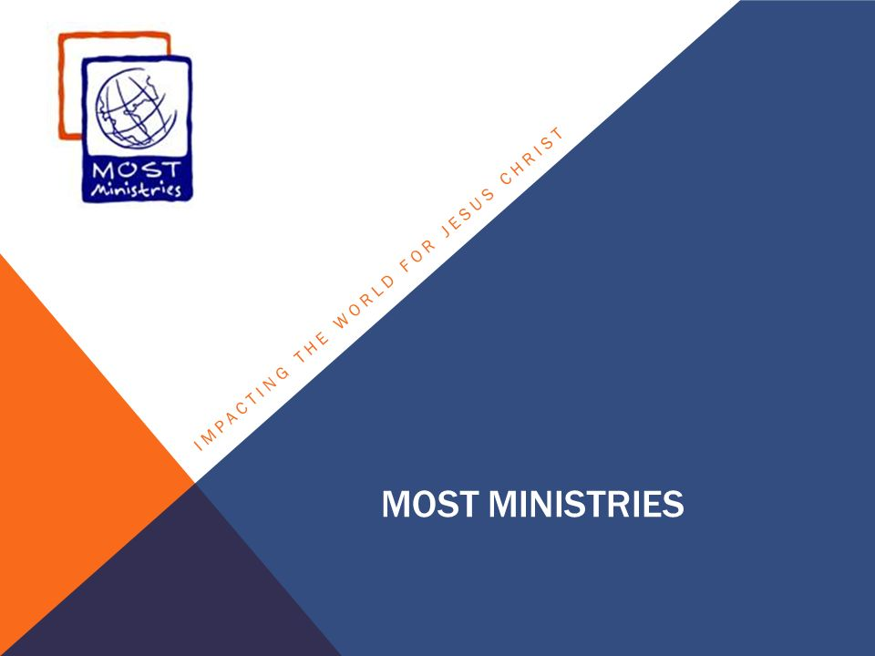 MOST MINISTRIES IMPACTING THE WORLD FOR JESUS CHRIST