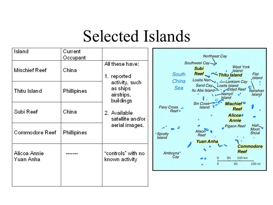 Selected Islands