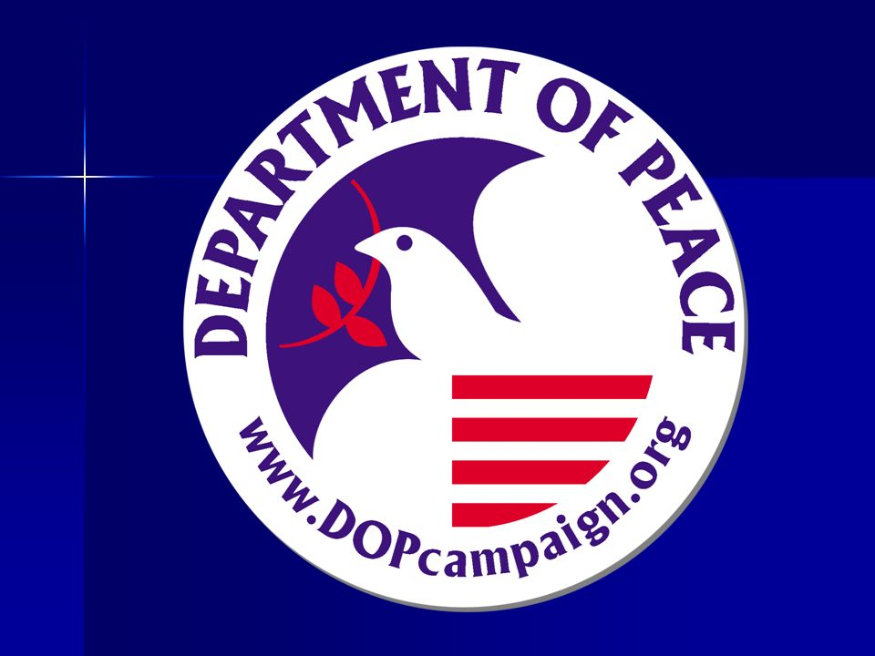 Department of Peace Legislation The primary function of a United States Department of Peace will be to research, facilitate, and articulate nonviolent solutions to domestic and international conflict