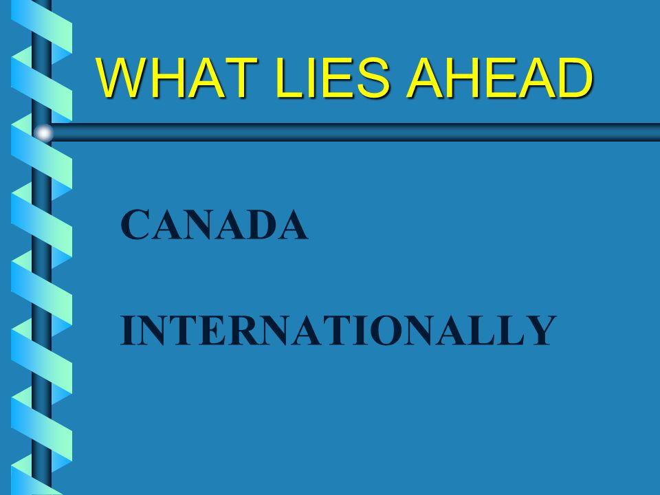 WHAT LIES AHEAD CANADA INTERNATIONALLY
