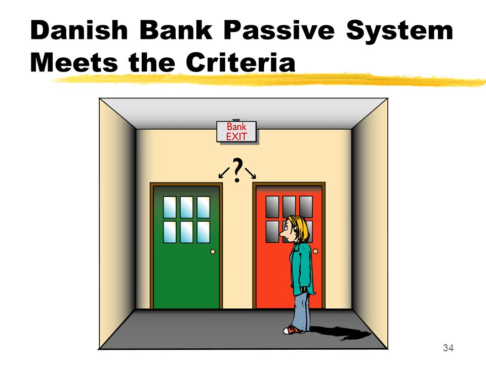 34 Danish Bank Passive System Meets the Criteria