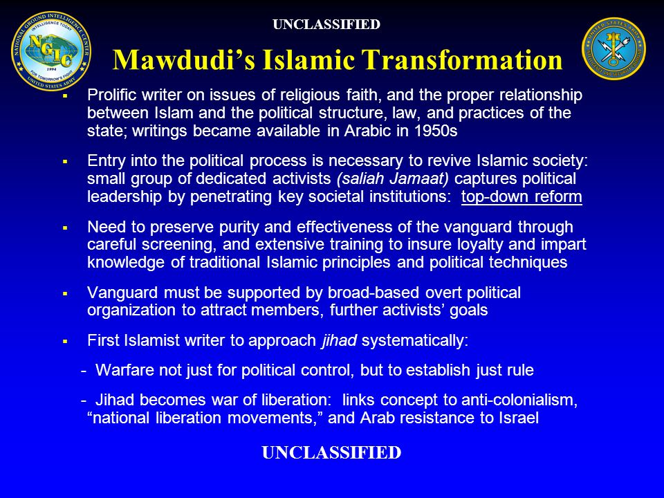Mawdudis Islamic Transformation Prolific writer on issues of religious faith, and the proper relationship between Islam and the political structure, l