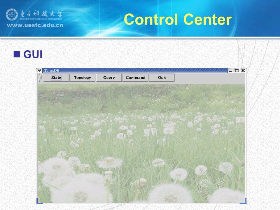 Control Center GUI