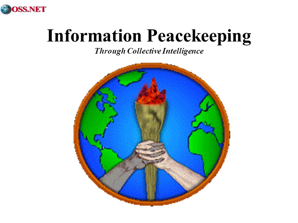 Information Peacekeeping Through Collective Intelligence