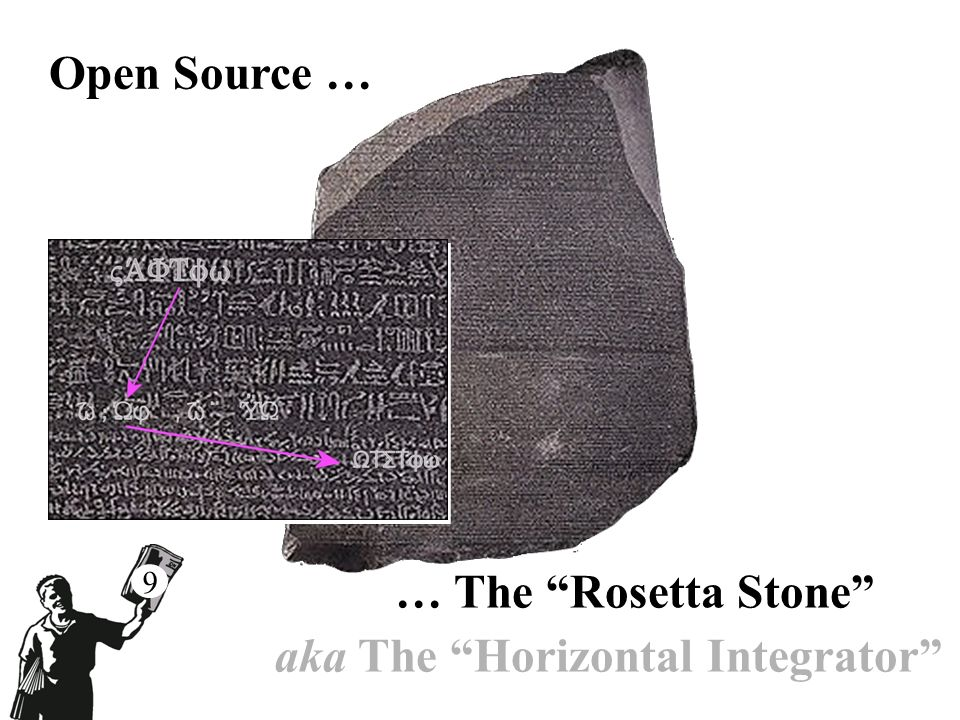 Open Source … … The Rosetta Stone aka The Horizontal Integrator 9