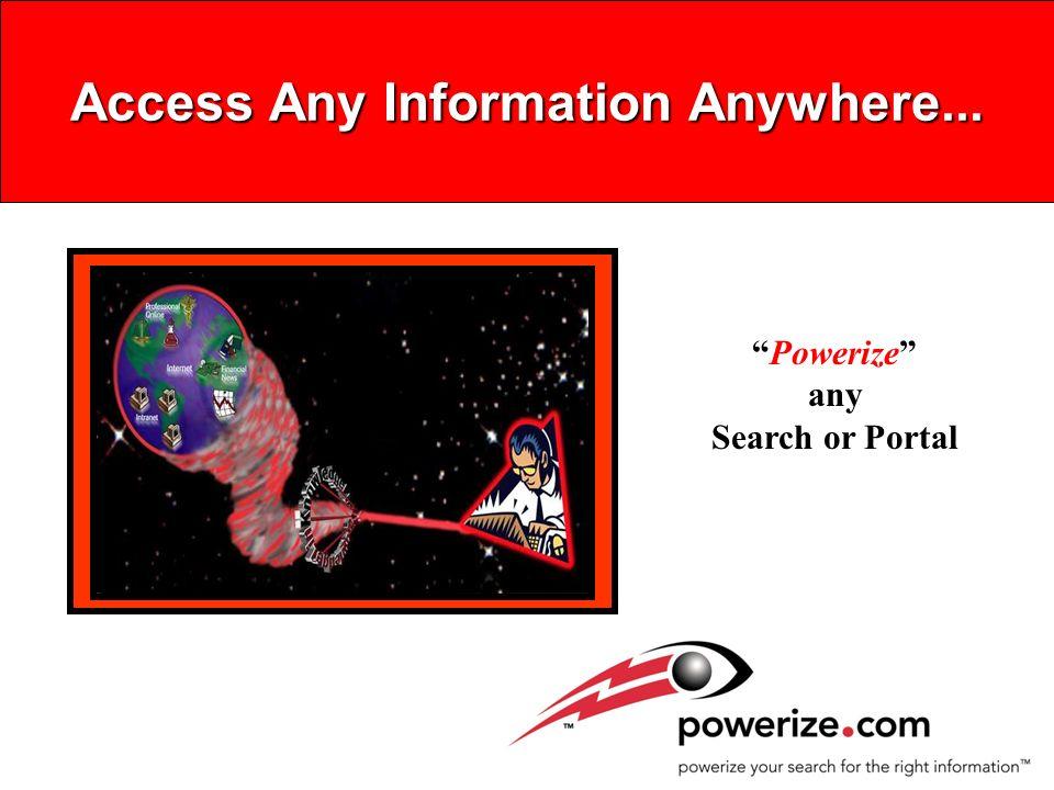 Powerize Service Levels Free Internet Service Premium Content Search Portals Free hidden Web Intranet Content Premium Information Service Powerize Server