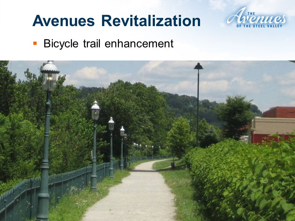 Avenues Revitalization Bicycle trail enhancement
