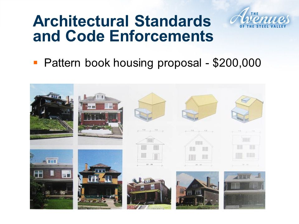 Pattern book housing proposal - $200,000 Architectural Standards and Code Enforcements