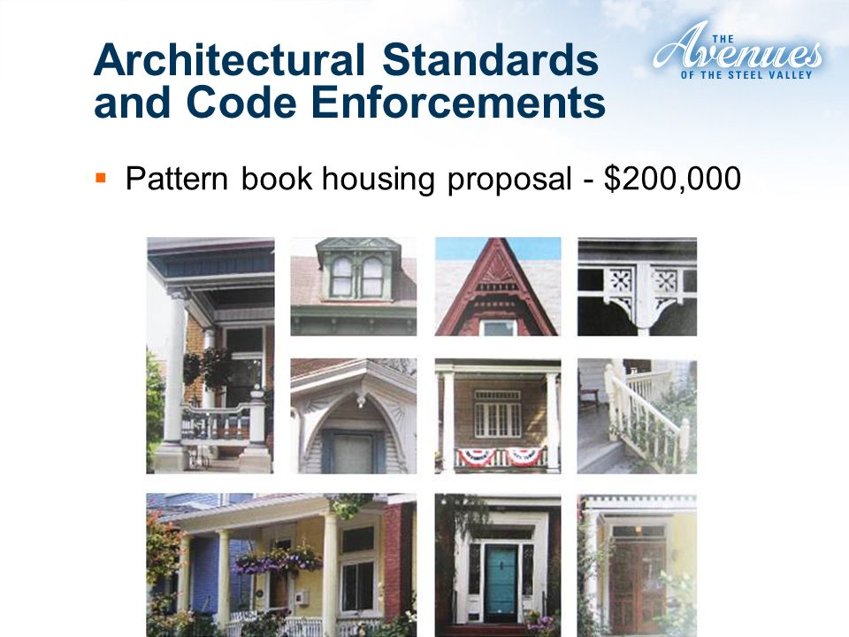 Pattern book housing proposal - $200,000