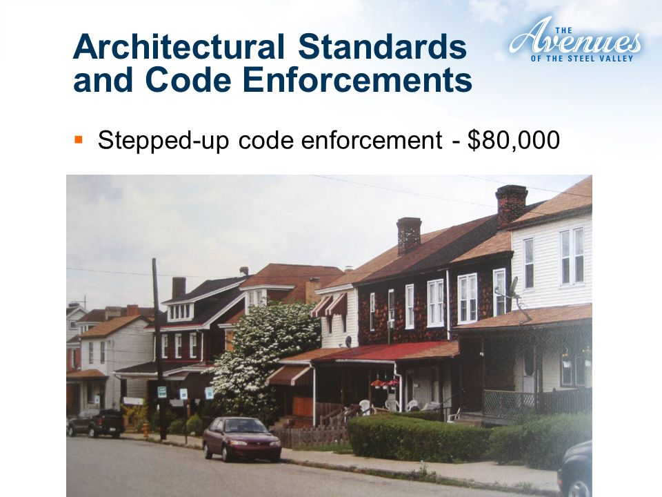 Stepped-up code enforcement - $80,000 Architectural Standards and Code Enforcements