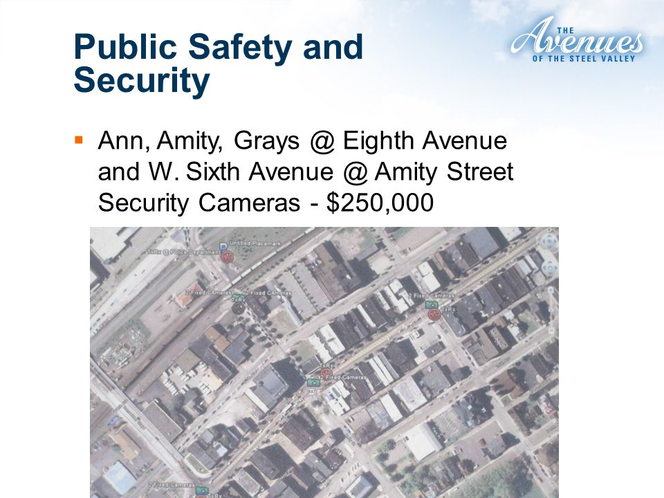 Ann, Amity, Grays @ Eighth Avenue and W. Sixth Avenue @ Amity Street Security Cameras - $250,000