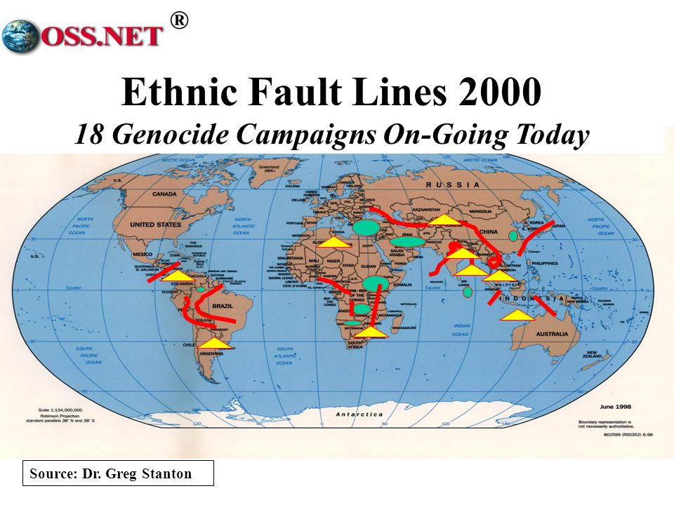 ® Ethnic Fault Lines 2000 18 Genocide Campaigns On-Going Today Source: Dr. Greg Stanton