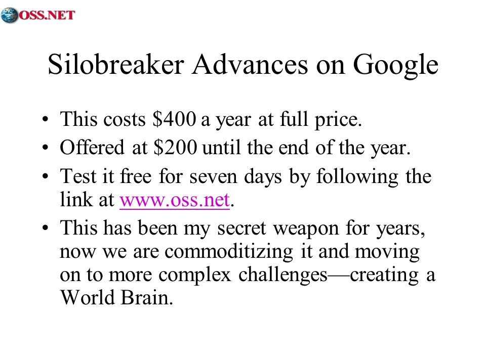 Silobreaker Advances on Google This costs $400 a year at full price.