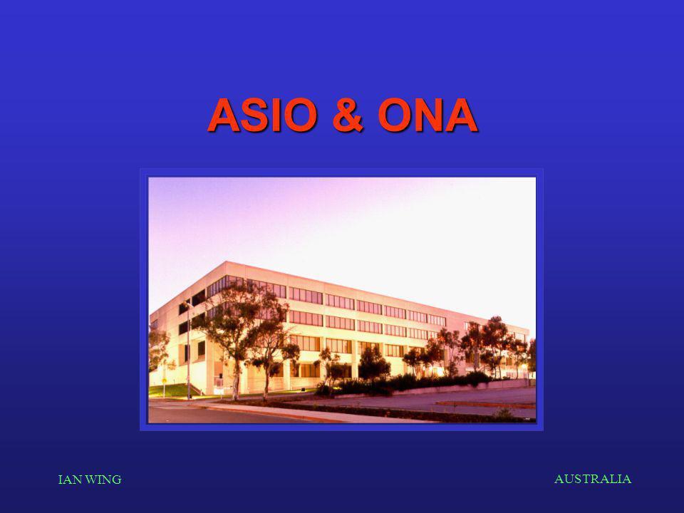 AUSTRALIA IAN WING ASIO & ONA