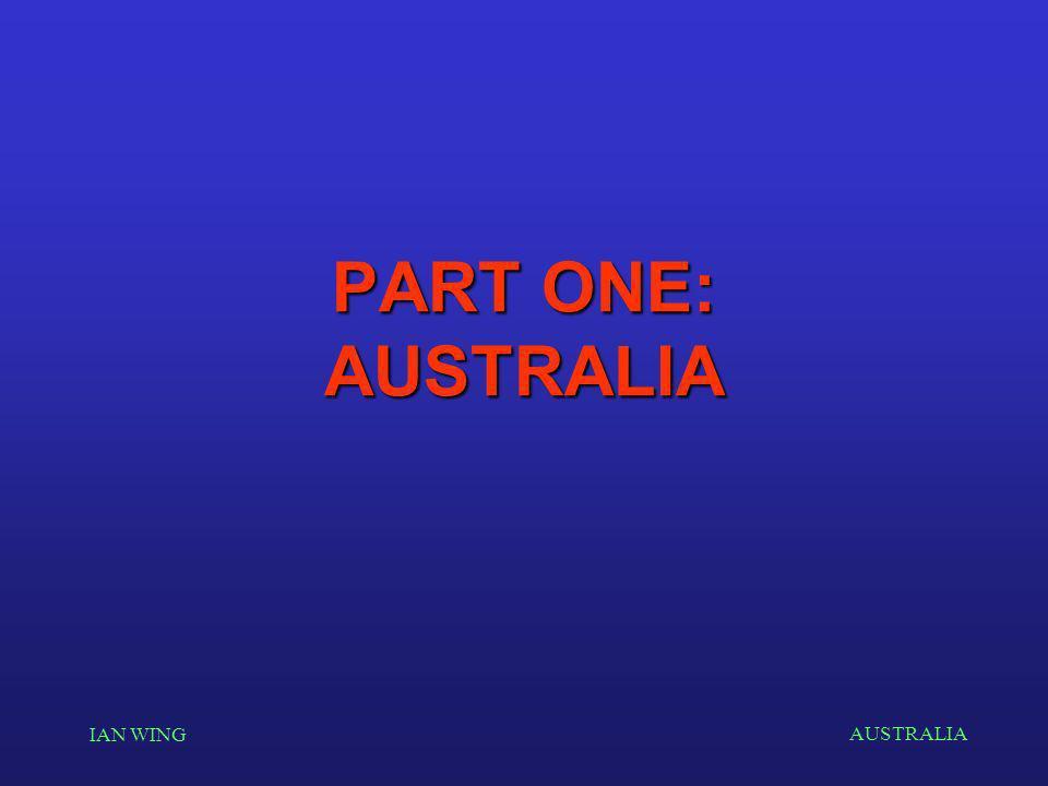 AUSTRALIA IAN WING PART ONE: AUSTRALIA