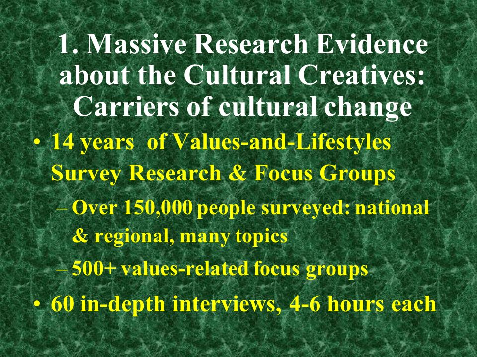 Cultural Change from New Social Movements Two effects of cultural changes that grew out of 40 years of new social movements.