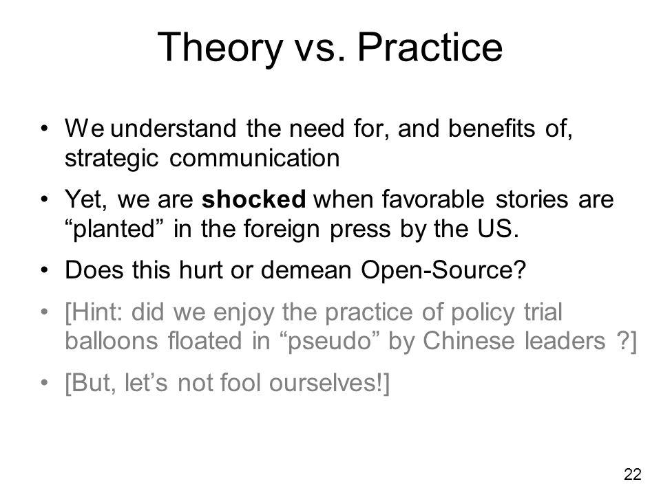22 Theory vs.