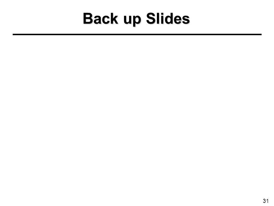 Back up Slides 31