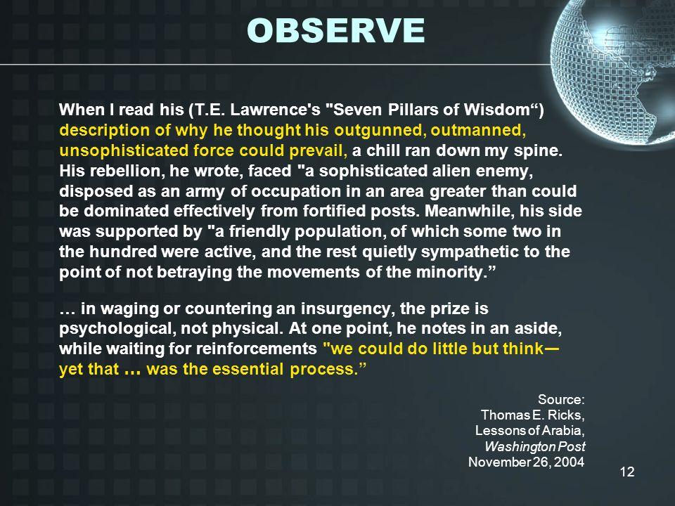 12 When I read his (T.E. Lawrence's