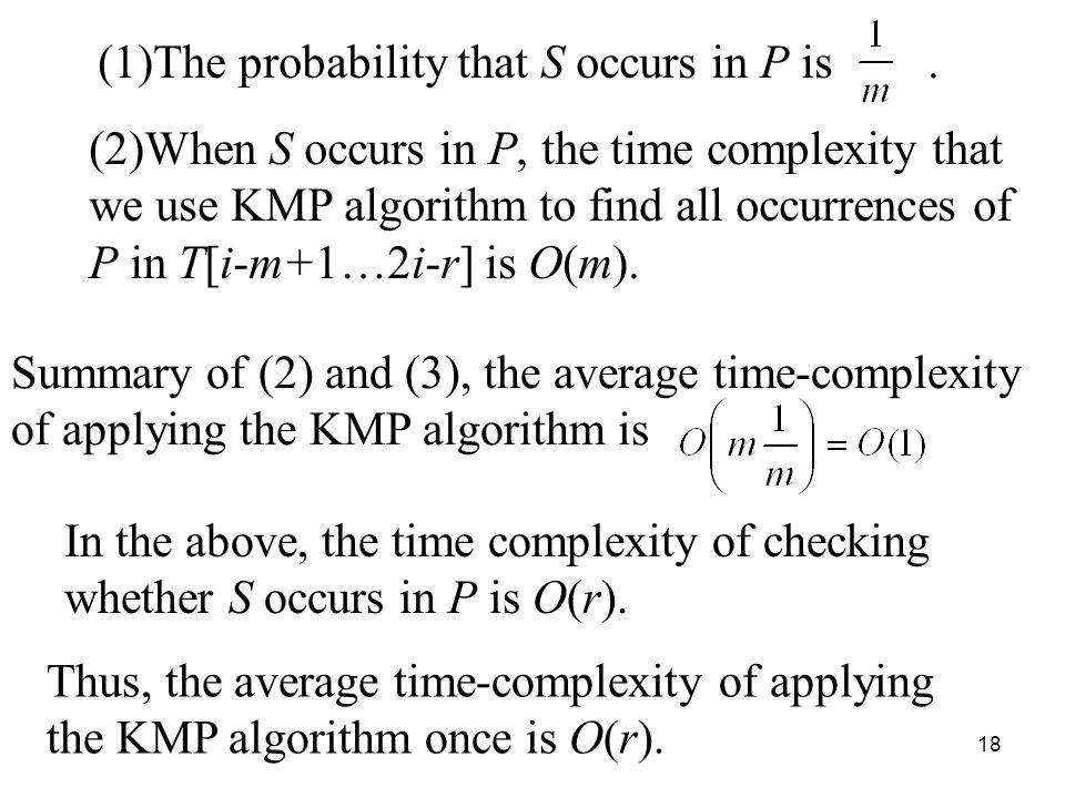 18 (1)The probability that S occurs in P is.