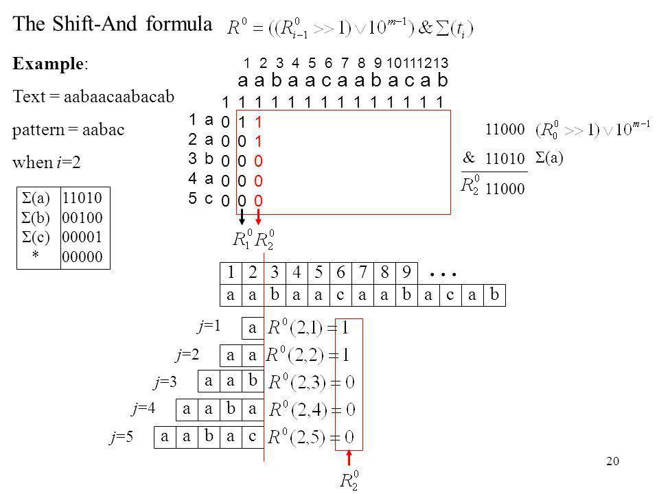 20 j=4 aabaaca 1234567 abac 89 ab...