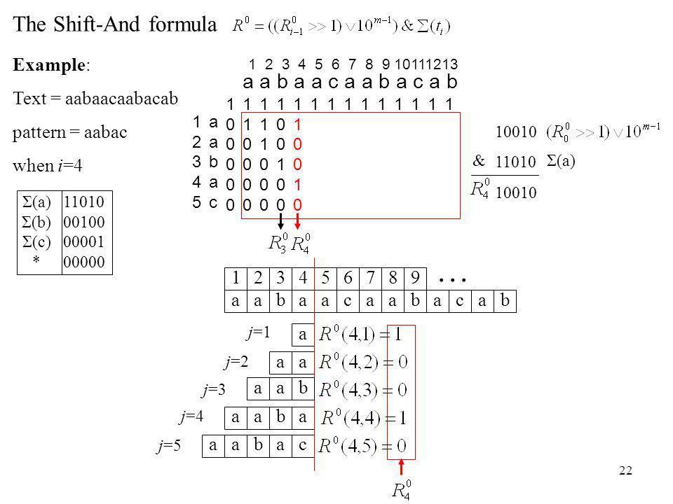 22 j=4 aabaaca 1234567 abac 89 ab...