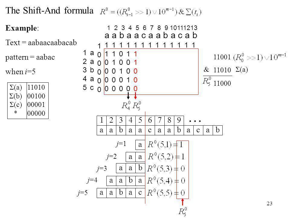 23 j=4 aabaaca 1234567 abac 89 ab...