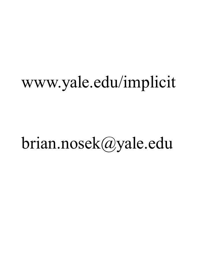 www.yale.edu/implicit brian.nosek@yale.edu