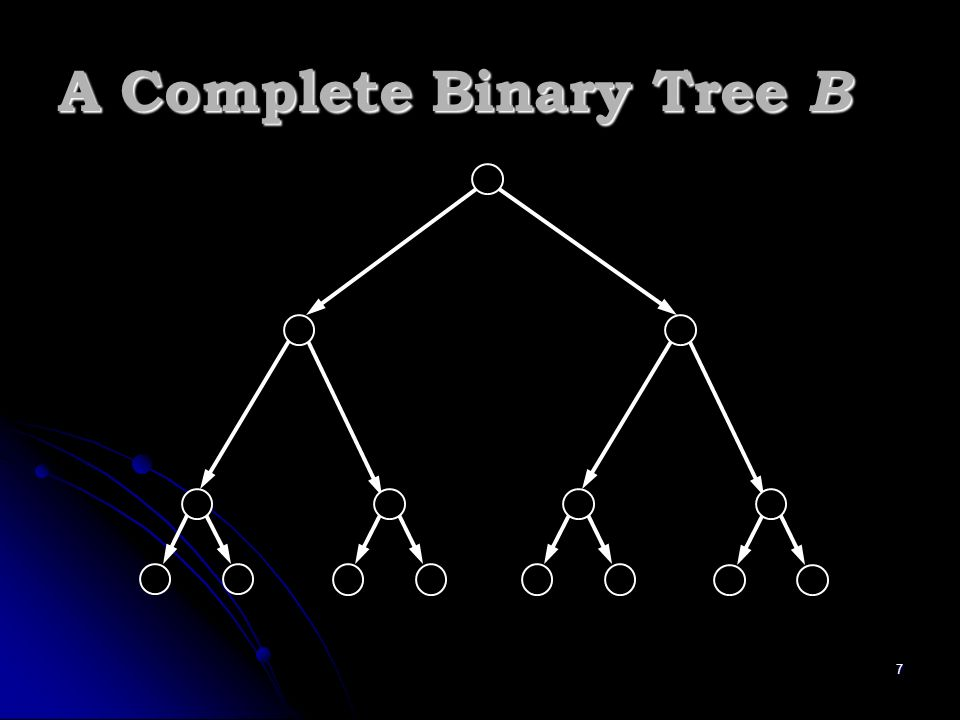 7 A Complete Binary Tree B