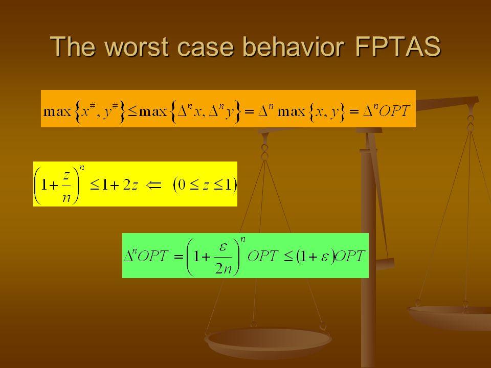 The worst case behavior FPTAS