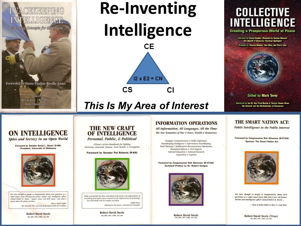 Re-Inventing Intelligence This Is My Area of Interest CE CS CI I2 x E2 = CN