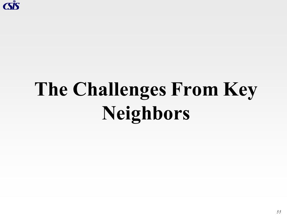 33 The Challenges From Key Neighbors