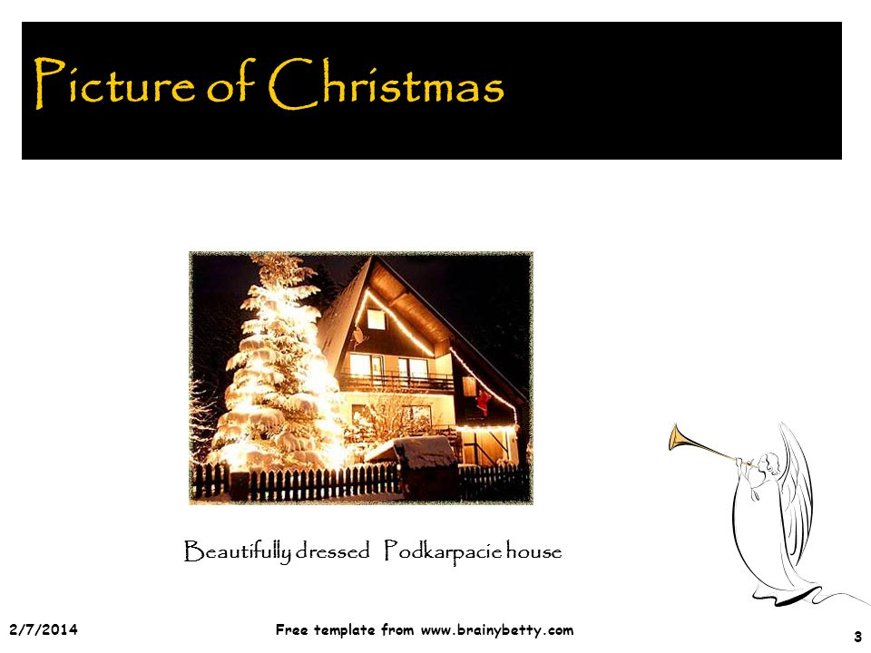 2/7/2014Free template from   3 Picture of Christmas Beautifully dressed Podkarpacie house