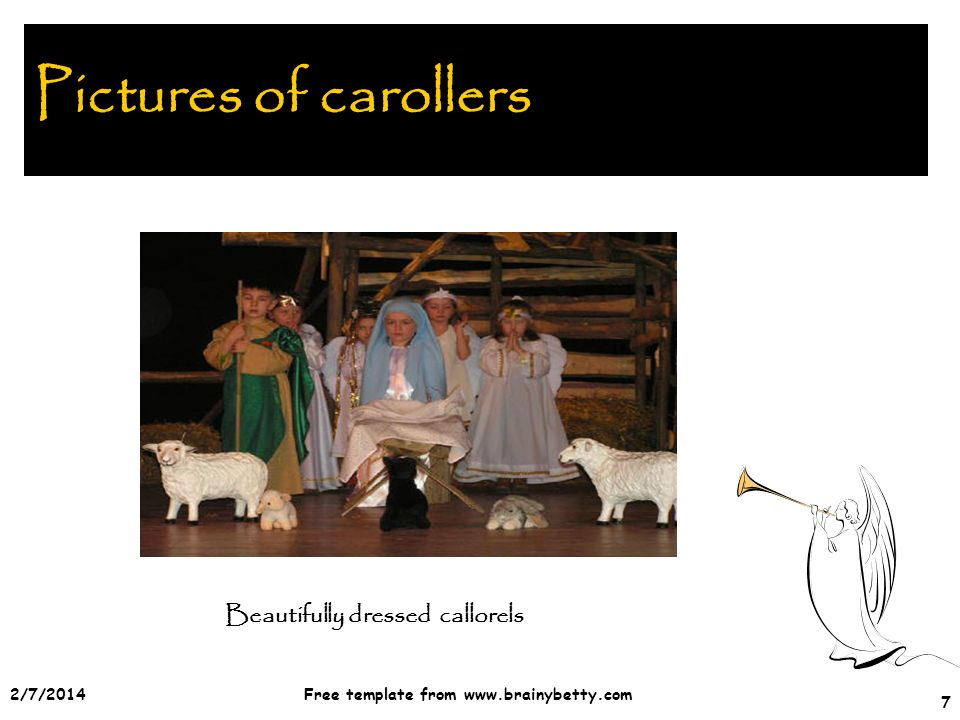 2/7/2014Free template from   7 Pictures of carollers Beautifully dressed callorels