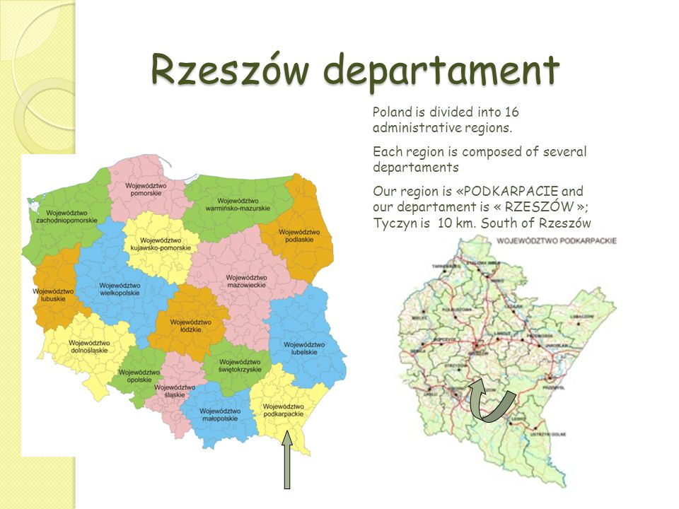 Rzeszów departament Poland is divided into 16 administrative regions.
